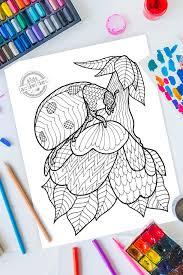 Do you love to color? Zentangle Ladybug Pattern Printable Coloring Page
