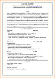 Templates Cashier Sample Job Description Resume Objectiveor