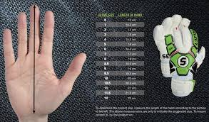 Goalkeeper Glove Size Chart Goalkeeper Gloves Size Chart Age Images Gloves And