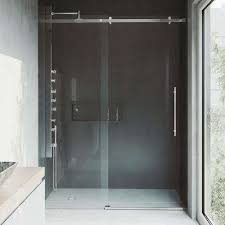 luca 60 in x 78 in frameless fixed shower door with hardware in stainless stainless steel chrome