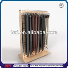 Leather Belt Display Stand Enchanting Tsdw32 Fashion Double Sided Slatwall Wooden Leather Belt Display