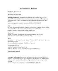 Computer Technician Sample Resume Best of Sample Resume For An Technician Tech Templates Job Rigaud