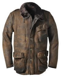 vurve mens leather shearling coat