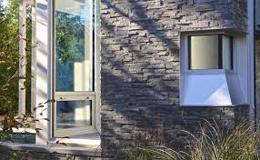 norstone charcoal stacked stone for exterior walls