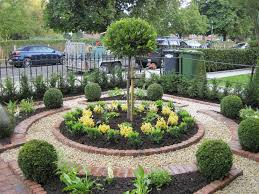 Formal Parterre Luxurious And Splendid Design Front Garden Ideas