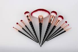 unicorn brush set. original royale unicorn brush set \u2013 black \u0026 rose gold unicorn brush set s