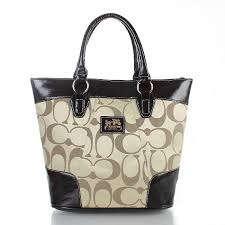 Coach Logo In Monogram Medium Apricot Totes FDT