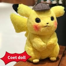 28cm For Children Pikachu Plush Toy Stuffed Detective Japan ...