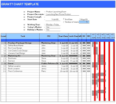 Gantt Chart Templates 7 Free Printable Word Excel