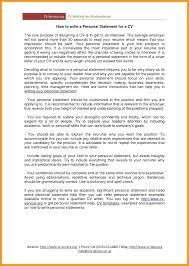 Work Statement Examples Resume Resume Personal Statement Examples Get To Making Fellowship