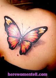 Tattoo Butterfly Elegantní Dekorace Pro ženské Tělo