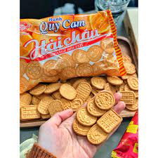 Bộ 10 gói bánh quy cam Hải Châu 130g - Bánh