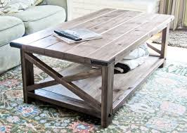 View in gallery DIY Rustic X Coffee Table
