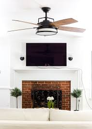 living room update ceiling fan swap blesserhouse com a bland boring