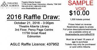 Fundraiser Alberta Ta Board Members With Raffle Tickets