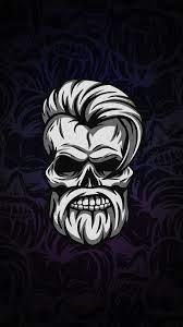 2160x3840 Beard Skull Dark 4k Sony ...
