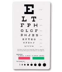 Snellen Chart Printable 3 Emi Snellen Pocket Eye Charts 3 Pack