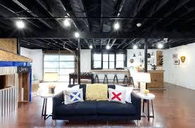 unfinished basement ceiling ideas. Wonderful Unfinished Fabric Ceiling Basement Image Of Unfinished Ideas Lights  On For Unfinished Basement Ceiling Ideas E