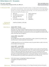 Cleaner Sample Resume Trezvost