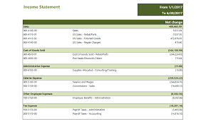 Gl Simple Income Statement Sample Reports Dashboards