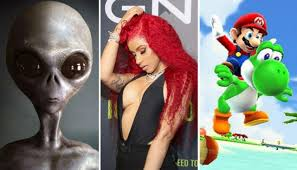 Pornhubs Year In Review Aliens Super Mario Cardi B