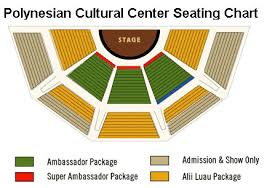 Pcc Seating Chart Polynesian Cultural Center Tour Super Ambassador Package