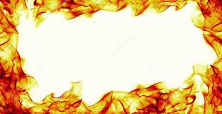 burning fire flame frame on white