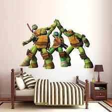 teenage mutant ninja turtles wall decals remarkable ninja turtle wall decor home paints stickers with giant