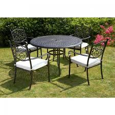 royalcraft versailles cast aluminium round table 4 stacking chairs