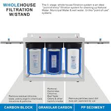 natural water filter system. Delighful Natural 3 Stage Big Blue Whole House Water Filtration System With 10 Throughout Natural Filter R