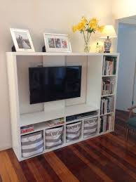Living Room Cabinet Ikea Ikea Lapland Tv Unit With Books And Storage Baskets Living Room