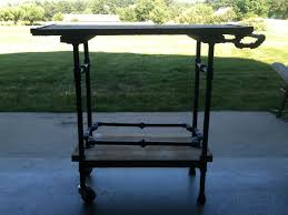 iron pipe furniture. Grill Cart Iron Pipe Furniture C