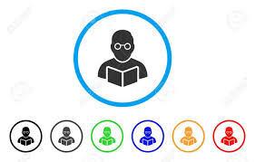 Symbol For Teacher Teacher Rounded Icon Style Is A Flat Teacher Grey Symbol Inside