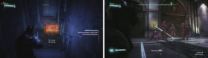 batman arkham knight finding gordon campaign walkthrough Batman Arkham City Fuse Box Museum use the remote electrical charge to get throughthe water (left) use the voice synthesizer to have a guard open the shutter (right) batman arkham city overload fuse box museum