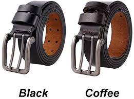 Belt <b>Men Business</b> Leather Casual Double Needle Buckle Pin <b>Large</b> ...