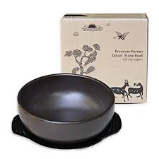 <b>Korean</b> Stone Bowl (Dolsot), Sizzling <b>Hot</b> Pot for Bibimbap and Soup ...