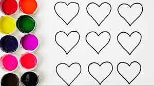 Ver Fotos De Corazones Aprende Los Colores Dibujando Y Coloreando Los Corazones Videos