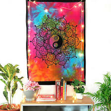 indian mandala tapestry yin yang wall