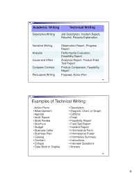 lecture technical writing  academic writing technical writingdescriptive writing job