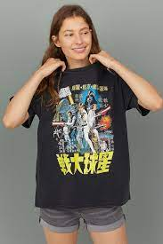 Oversized Printed T-shirt - Black/Star Wars - Ladies | H&M US | Star wars  outfits, Mothers day shirts, Aesthetic shirts