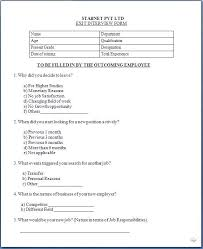 Employee Exit Interview Form Template Combined With Blank Exit ...