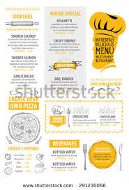 family menu template cafe menu food placemat brochure restaurant stok vektör 522094183