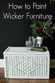 painting wicker furnitureHow to Paint Wicker Furniture Video Tutorial  Hunt and Host