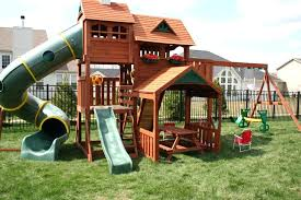 wooden swing set plans image of wood for backyard ideas s 2