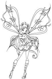 Free Coloring Books   Coloring Pages - The Winx Club Photo ...