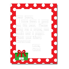 Personalized Printable Letter To Santa Red Polkadot Present