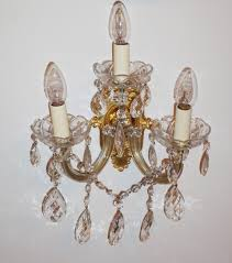 single 3 arm marie therese style wall light