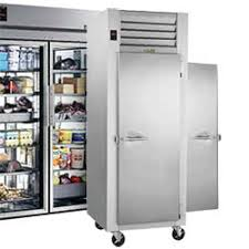 refrigerator and freezer. pass-through / roll-in commercial refrigerators refrigerator and freezer f