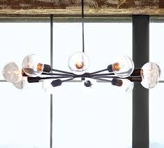 mid century orb chandelier