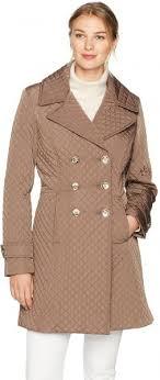 Ivanka Trump Womens Double Breasted Coat Truffle M Buy